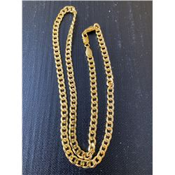 24 INCH GOLD FLAT LINK CHAIN - NO MARKINGS