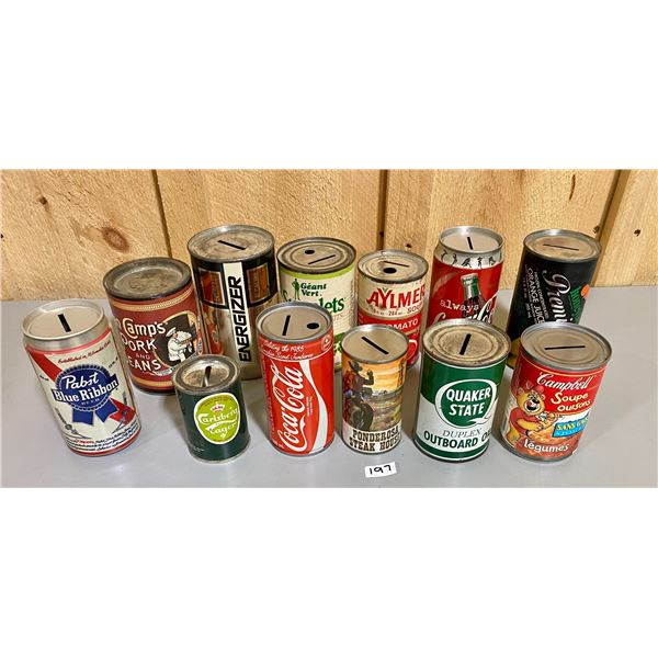LOT OF COLLECTIBLE BANKS - ADVERTISING PRODUCTS