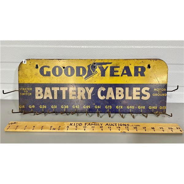 GOODYEAR BATTERY CABLES STORE DISPLAY RACK