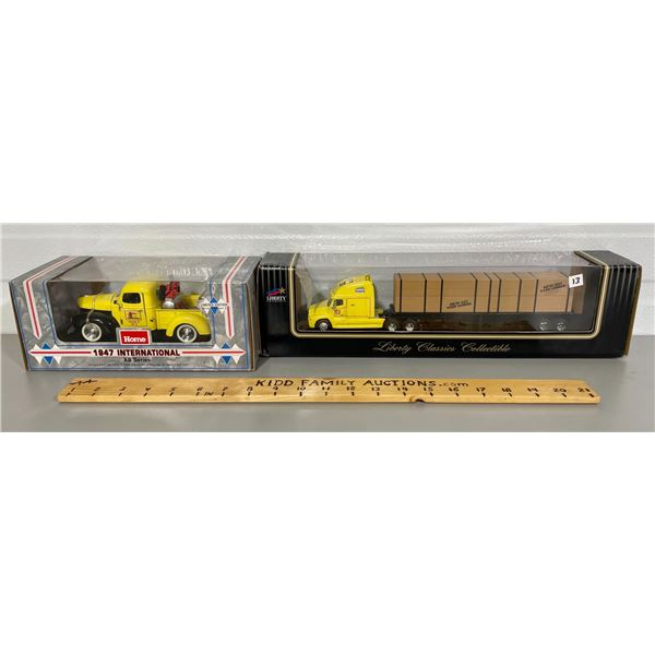 LOT OF 2 HOME HARDWARE DIECAST VEHICLES