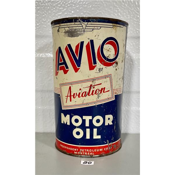 AVIO 1 QUART AVIATION MOTOR OIL CAN