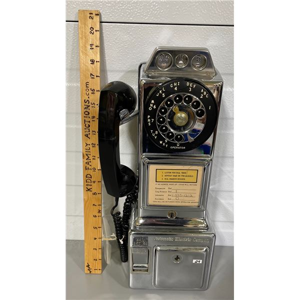 AUTOMATIC ELECTRIC COMPANY ROTARY PAY PHONE