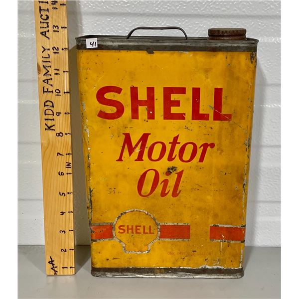 SHELL MOTOR OIL 1 GALLON CAN