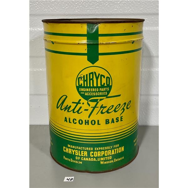 CHRYCO 1 GALLON ANTI-FREEZE CAN
