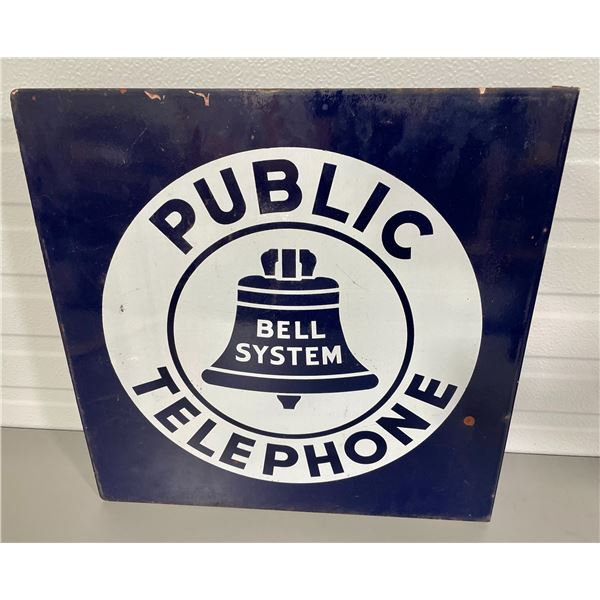 BELL TELEPHONE DSP FLANGE SIGN