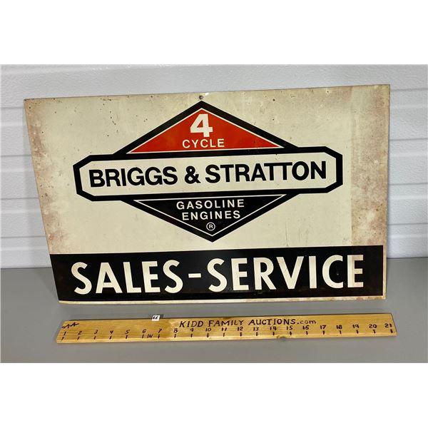 "BRIGGS & STRATTON DST SIGN - 14"" X 22"""