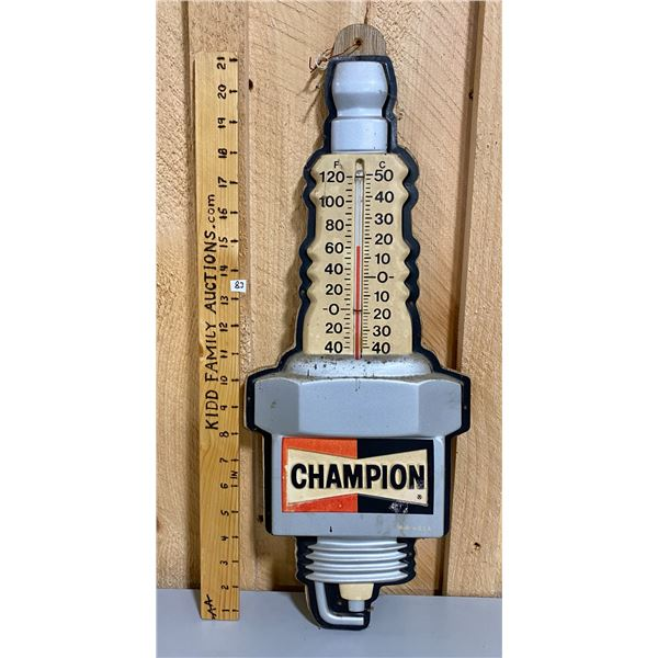 MOUNTED CHAMPION SPARK PLUGS THERMOMETER