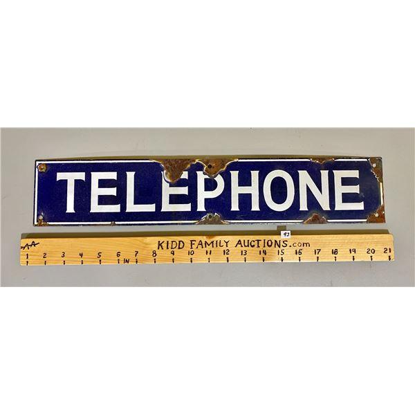 "SSP TELEPHONE SIGN - 4"" X 20"""