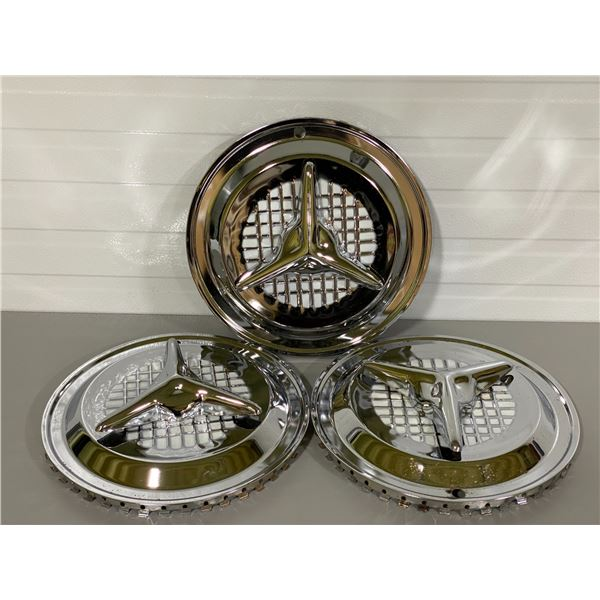 LOT OF 3 CHROME HUBCAPS