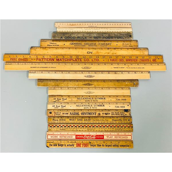LOT OF MISC ADVERTISING RULERS