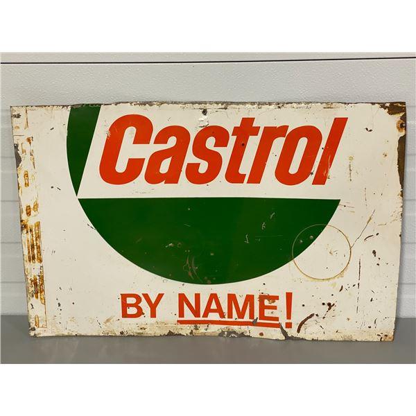 "CASTROL SST SIGN - 17"" X 26.5"""