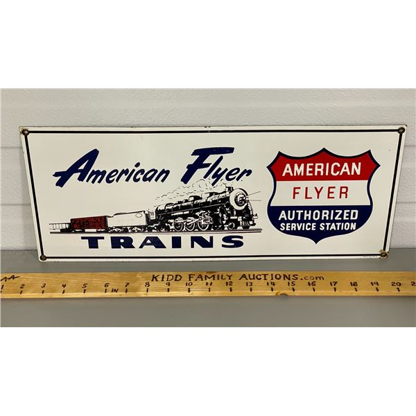 AMERICAN FLYER SSP SIGN BY LIONEL