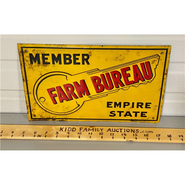 FARM BUREAU SIGN - NY STATE - 12""