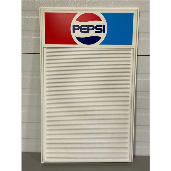 "PEPSI MENU BOARD W/ LETTERS - NEW OLD STOCK - 16.5"" X 27.5"""