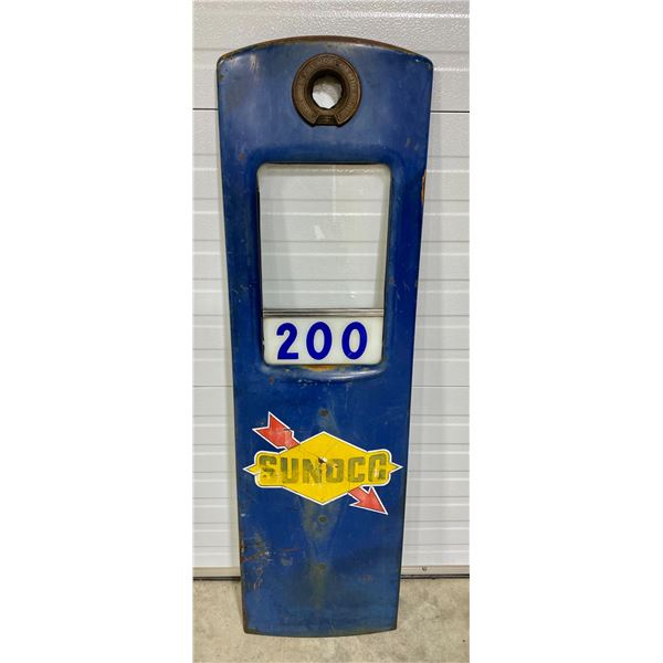 SUNOCO PUMP FACE W/ GLASS & DECAL