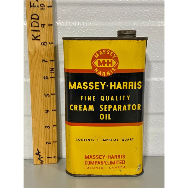 MASSEY-HARRIS CREAM SEPARATOR OIL TIN - 1 QT SZ