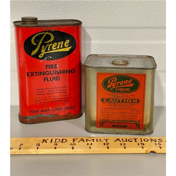 LOT OF 2 PYRENE TINS