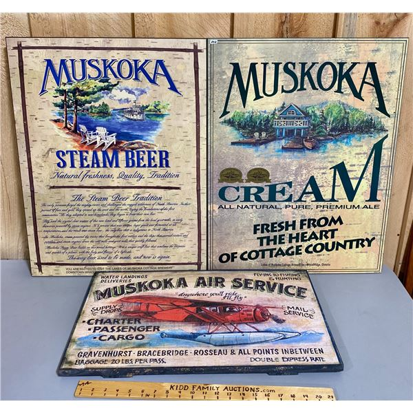 LOT OF 3 - MUSKOKA MOUNTED POSTERS
