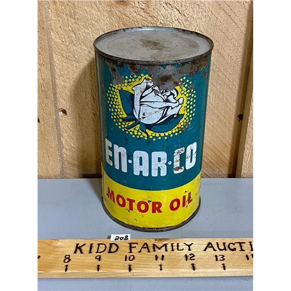 EN-AR-CO MOTOR OIL CAN - 1 QT SZ