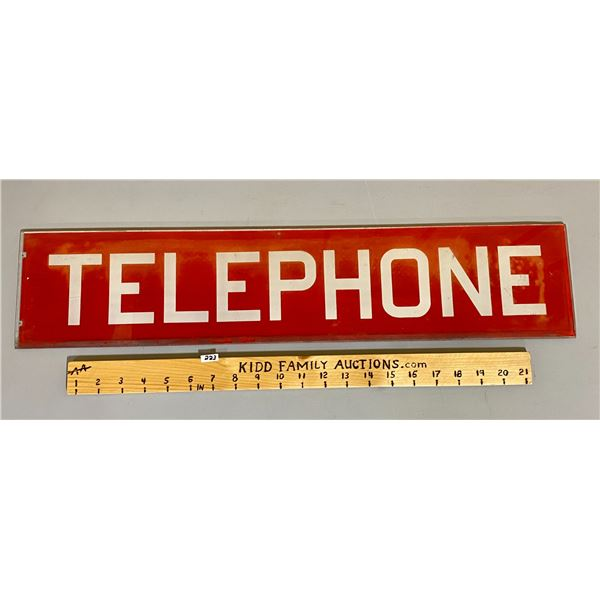GLASS TELEPHONE SIGN - SINGLE SIDED - 24""