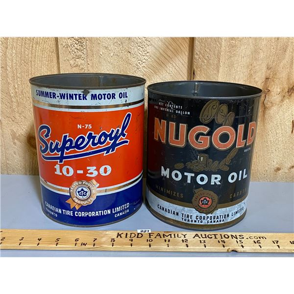LOT OF 2 - CANADIAN TIRE - SUPEROYL & NUGOLD - 1 GAL SZ