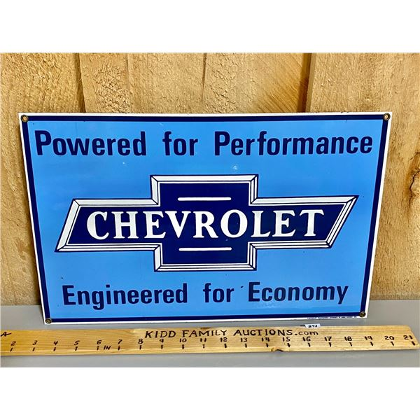 "CHEVROLET SSP REPRO SIGN - 11"" X 16"""