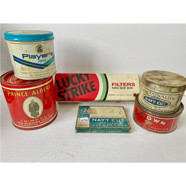 LOT OF 6 - TOBACCO & FILTERS TINS
