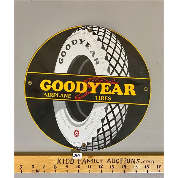 "GOODYEAR AIRPLANE TIRES SSP REPRO 12"" SIGN"