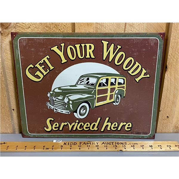 "WOODY SERVICE SST REPRO SIGN - 12"" X 16"""