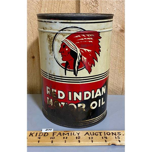 RED INDIAN 1 GAL MOTOR OIL CAN