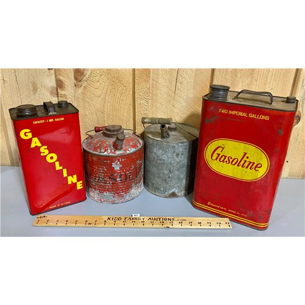 LOT OF 4 - GASOLINE CANS