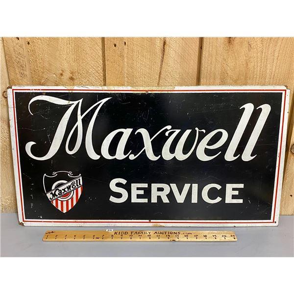 "MAXWELL SERVICE - PRESS BOARD SIGN - 16"" X 30"""