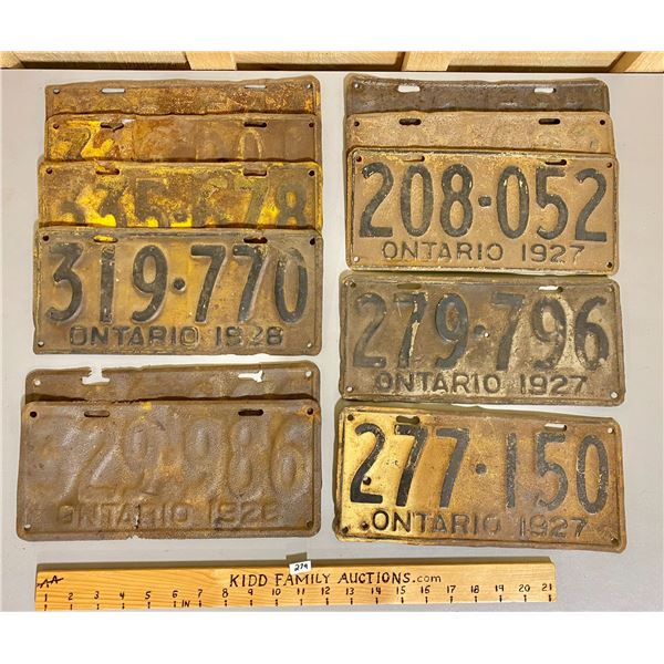 MISC LOT OF ONTARIO LICENCE PLATES