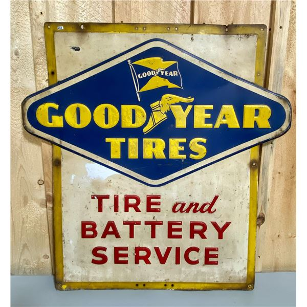 GOODYEAR TIRE AND BATTERY SST SIGN - 1955