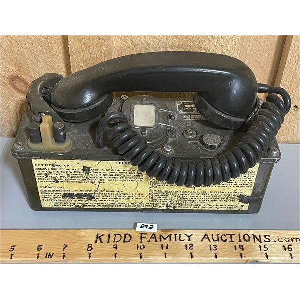 NORTHERN ELECTRIC MILITARY FIELD PHONE