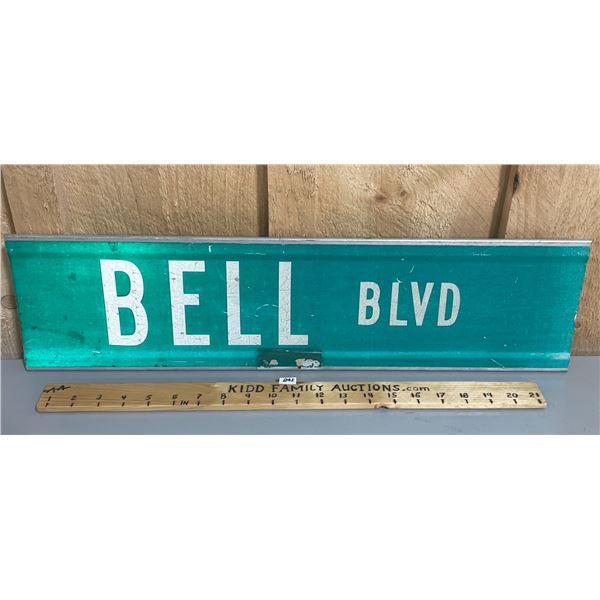 BELL BLVD STREET SIGN