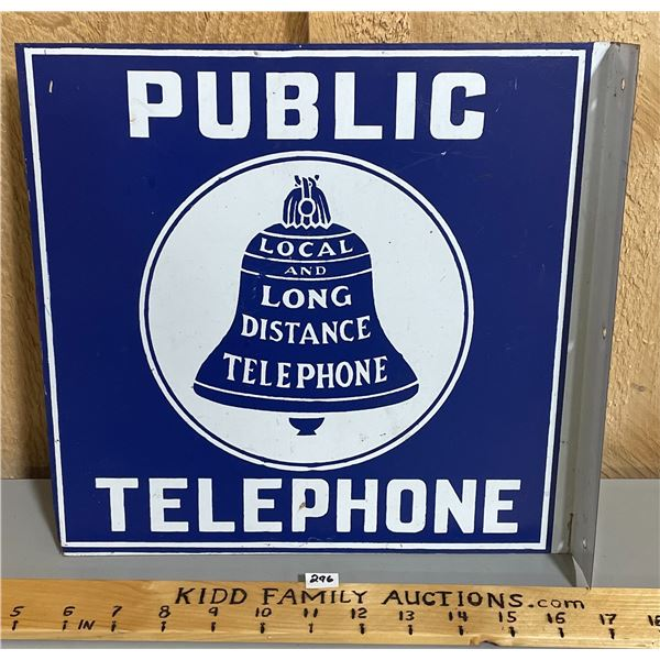 PUBLIC TELEPHONE DST FLANGE SIGN