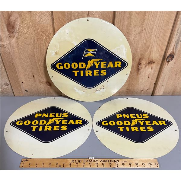 LOT OF 3 GOODYEAR DST TIRE INSERTS