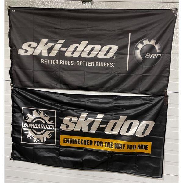 PAIR OF SKI-DOO FLAGS
