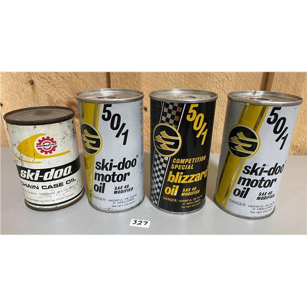 LOT OF 4 FULL SKI-DOO CANS