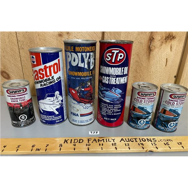 LOT OF 6 SNOWMOBILE CANS