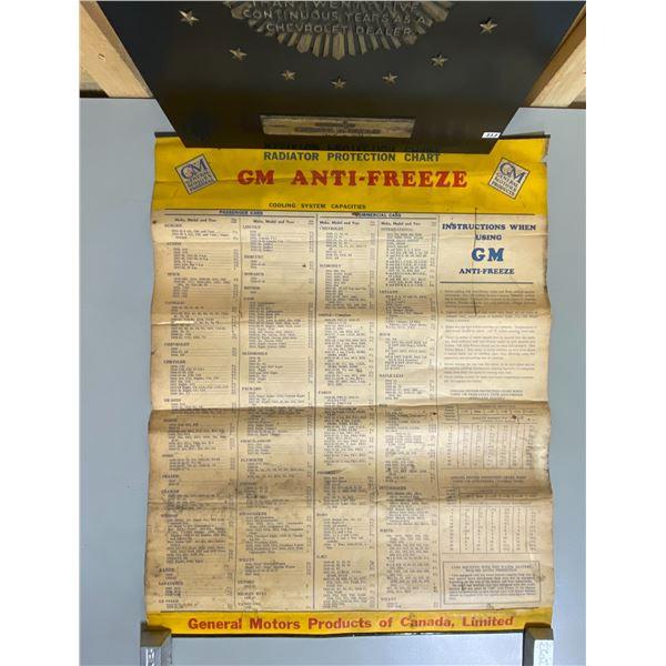 CHEV DEALER AWARD & GM RADIATOR PROTECTION CHART 1930's - 1940's