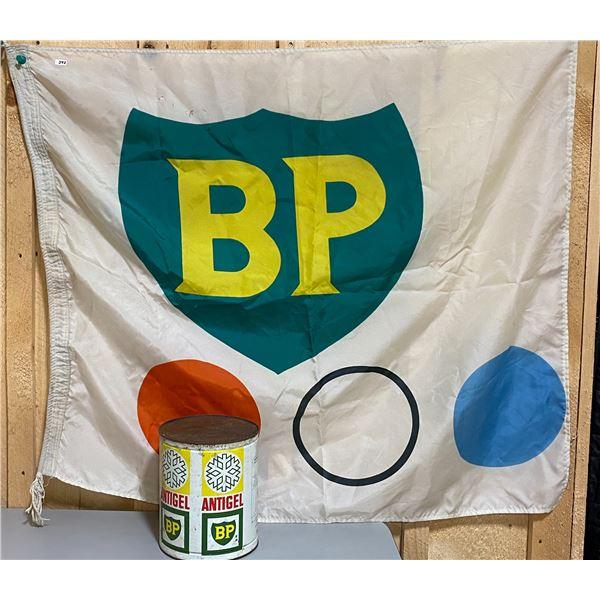 "36"" X 40"" BP FLAG & 1 GAL ANTIGEL CAN"