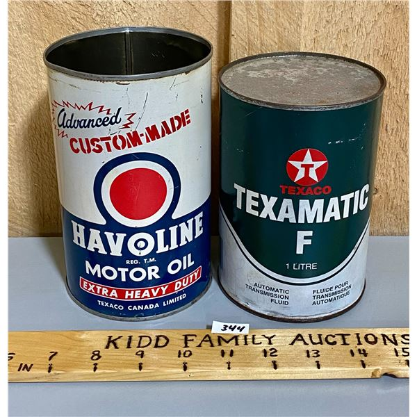 LOT OF 2 - TEXACO OIL CANS
