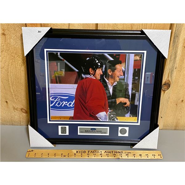 FRAMED FORD PROMO PHOTO - GRETZKY - AS NEW