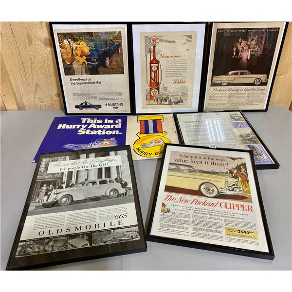 LOT OF MISC FRAMED ADS