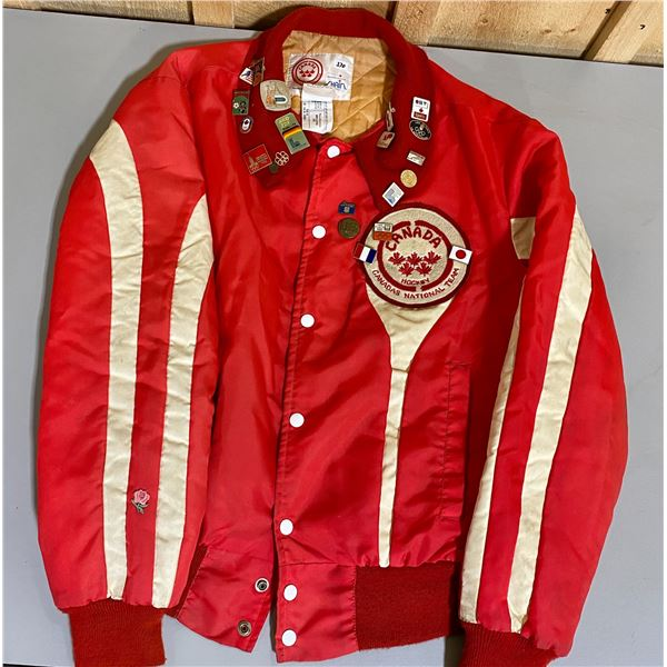 CANADIAN NATIONAL HOCKEY TEAM JACKET - APPROX MENS M - 1979