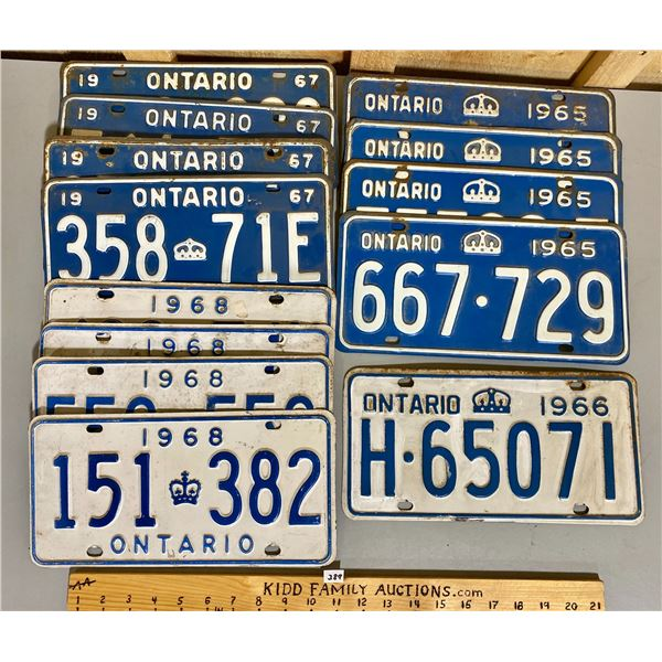 QTY OF 1960's ONTARIO LICENCE PLATES