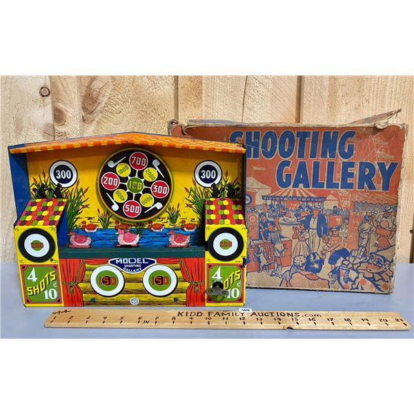 VINTAGE SHOOTING GALLERY TOY - MECHANICAL
