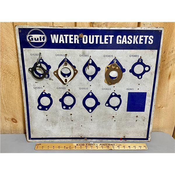 "GULF GASKETS - PRESSBOARD DISPLAY W/ SOME CONTENTS - 21"" X 23"""